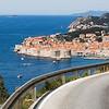Winding coastal road to Dubrovnik