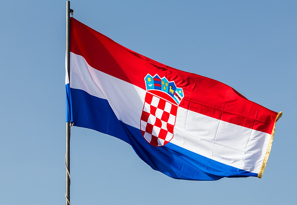 Filling the frame with the Croatian national flag