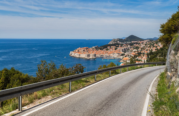 Winding roads to Dubrovnik