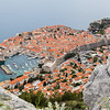 Dubrovnik seen between the rocks on Srd hill