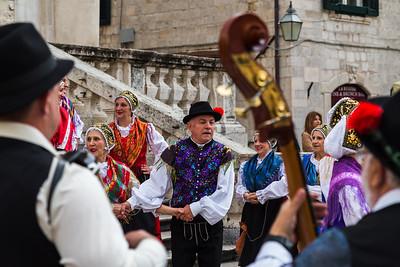 Croatian folklore dancers