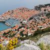 Looking down on Dubrovnik