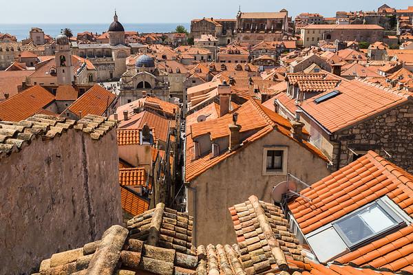 Colourful Dubrovnik skyline