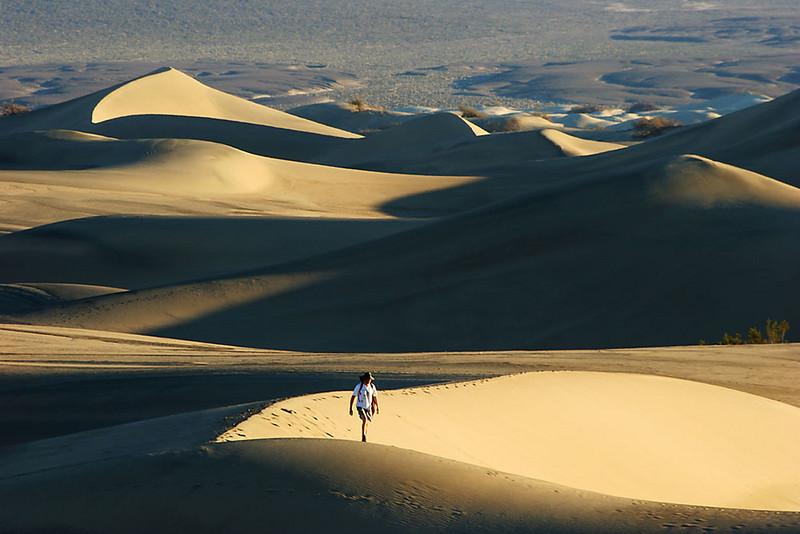 Dune walk, Death Valley, California