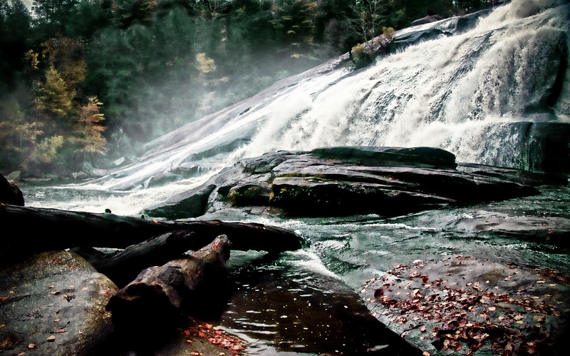 Bottom of High Falls.  Dupont Forest in the Pisgah National Forest of North Carolina
