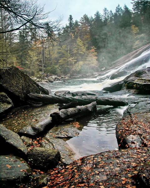 Bottom of High Falls Dupont  Western North Carolina
