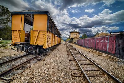 Durango & Silverton Narrow Gauge Railroad Passenger Car and Water Tower