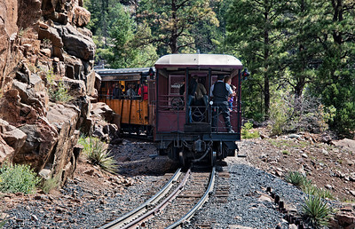 On the Durango & Silverton Narrow Gauge Railroad train, the caboose is a not well known place to enjoy the ride.