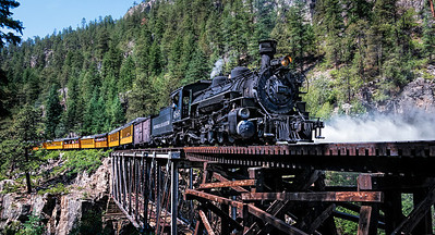 The Durango & Silverton Narrow Gauge Railroad is internationally known for its unique scenery and the experience of traveling through the the Rocky Mountains and along the Animas River gorge.
