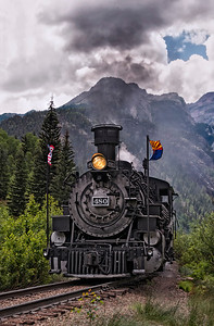 The Durango & Silverton Narrow Gauge Railroad is internationally known for its unique scenery and the experience of traveling through the the Rocky Mountains and along the Animas River gorge.  This section of track overlaps the Colorado Trail.