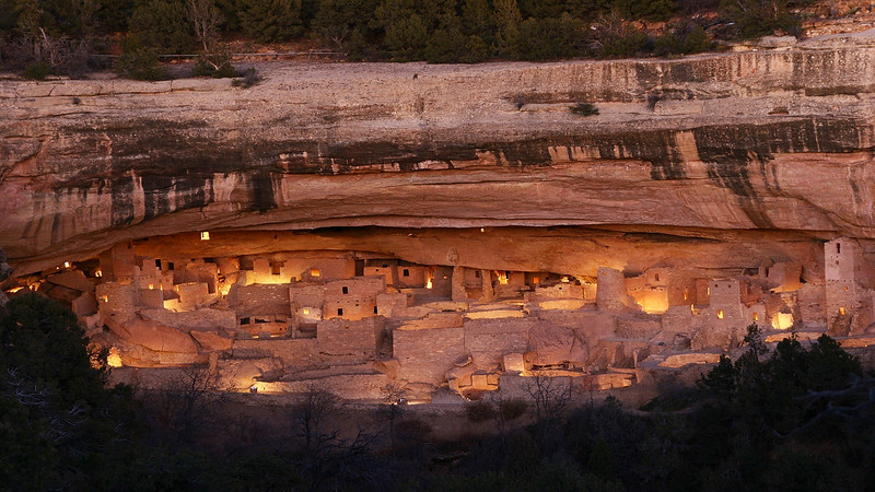 Lumineria for the 100th anniversary of Mesa Verde National Park , Colorado