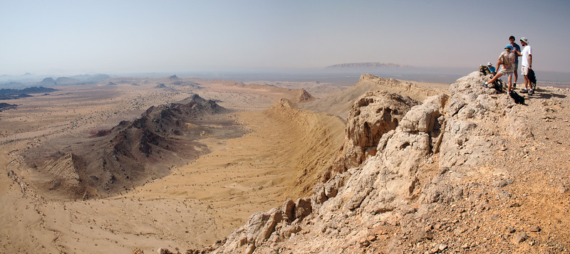 View from the summit of Jebel Qatara<br /> Oman