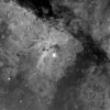 "Test image of NGC3372 Key Hole nebula captured during testing of the EQ6 tracking with PHD used as guiding software. Scope used is a GSO RC 8"" f/8 with FL 1624mm, camera is QHY9 mono (KAF8300 chip), filter is Baader Ha 7nm, 6 x 20min exposure per subs. I didn't spend much time in processing this image."