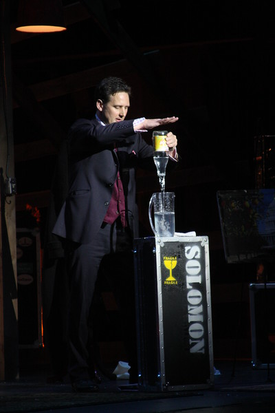 Thomas Solomon, multi award-winning escape artist and magician, presented his full-evening show, American Escape Artist, as the feature of the Society of American Magicians 102nd Annual Salute to Magic on Saturday, May 14, 2011. Solomon's performance alternates between dangerous escapes and baffling sleight-of-hand illusions, supported by beautiful assistants, dramatic sets and high-impact light and sound design. Solomon's show is suspenseful, entertaining and mystifying.