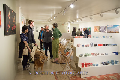 Lively gallery reception at 510 Warren Street Gallery in Hudson, NY