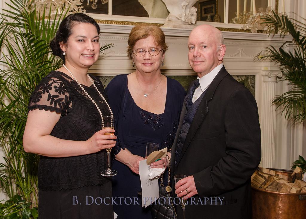 Lenox Library staff members Christy Cordova, JoAnn Spaulding and Jim Spaulding