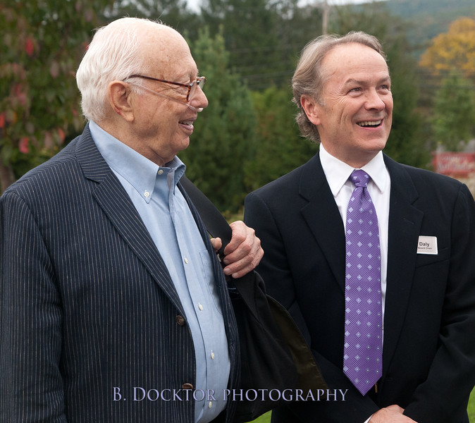 Shaker Museum & Library honors Ellsworth Kelly, Jeff Daly Board Chairman at right