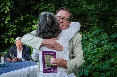 Board Chairman Nick Van Alstyne hugging Spencertown Academy Life Skills Workshop leader Michele Steckler