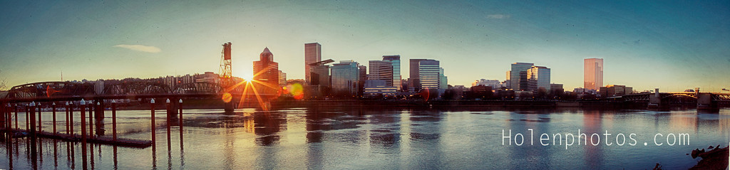 Portland Oregon at Sunset