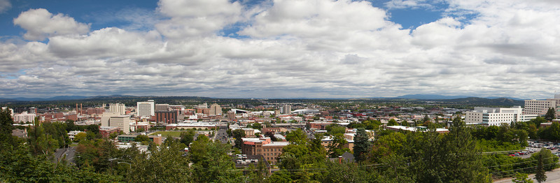Spokane Panorama From the South Hilll