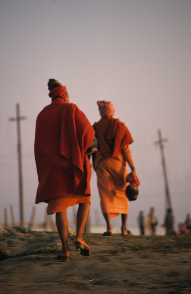 If anyone wishes to be a follower of mine, he must leave self behind.   —<i> Matthew 16:24 </i> <i>L1228 sadhus, Allahabad</i>