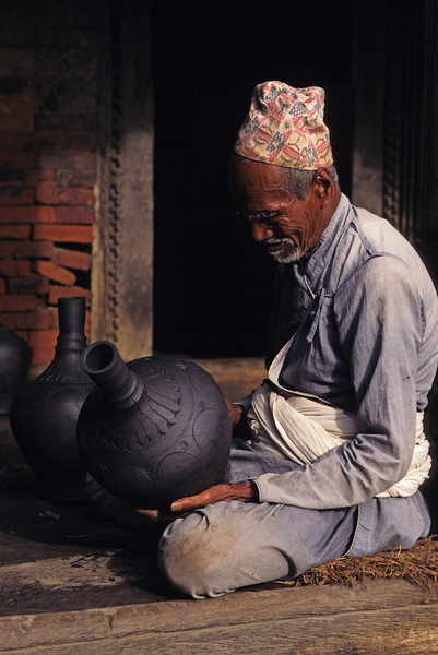 There is the deed but no doer; there is suffering but no sufferer; there is the path no one to enter it; and there is liberation but no one to attain it. —Buddha <i>L1063 Bhaktapur, Nepal</i>