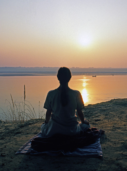 """One of the purposes of meditation is to """"realize"""" the things that we believe. But belief alone is simply not enough, as we must then experience """"it""""; or see """"it"""", only so we  may become content and happy.  —Sri Dharma Mittra <i>L1122 Ganges at Allahabad</i>"""