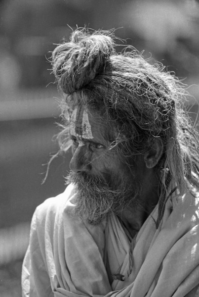 You can never, never achieve Self-realization unless you spend a great deal of time alone. —Yogananda <i>L2249 sadhu, Rishikesh </i>