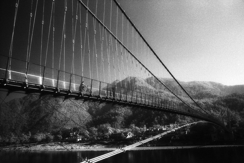 "The question ""Who Am I?"" is important. More important is the question ""Where Am I?""  —Pandit Rajmani Tigunait <i>L2653 Ram Jhula, Rishikesh, infrared </i>"