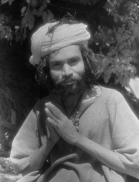 Meditation progressively narrows the space between the meditating subject and the object of meditation. In the state of ecstasy, this space collapses altogether. Subject and object become one. This amounts to a total reversal of the ordinary state of consciousness, which is based on the distinction between consciousness and its contents. —Georg Feuerstein,  <i> Yoga as Reversal </i> <i> L2436 sadhu, Rishikesh, infrared</i>