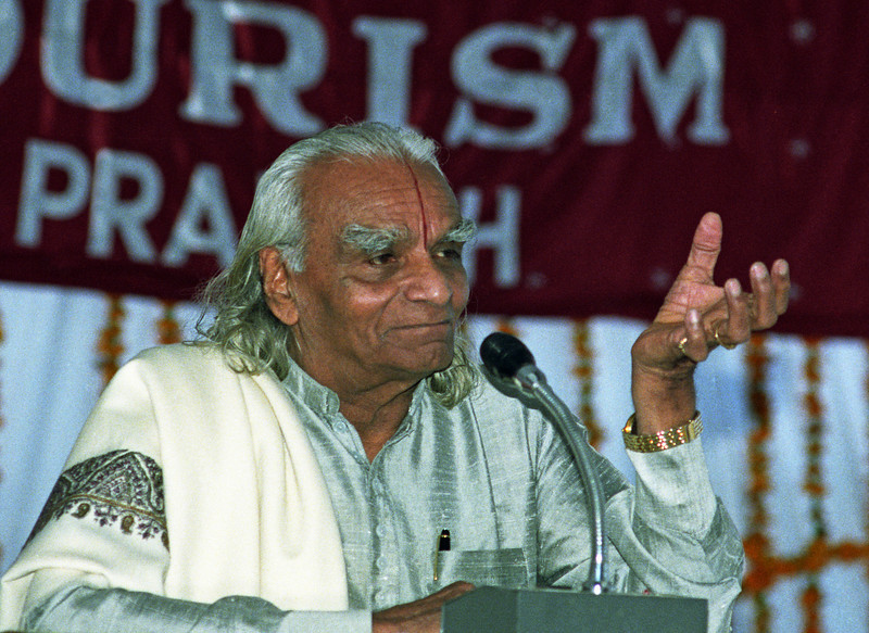 Concentration is like a tightly held fist. Open the fist and concentration is extended. There is freedom. This is meditation. —B.K.S. Iyengar <i> L2713 Iyengar, Rishikesh </i>