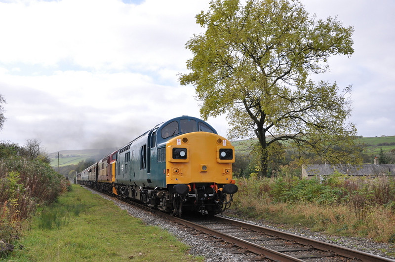 37109 and 37418, Irwell Vale.