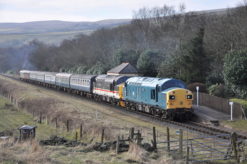 37109 and 37518, Irwell Vale.