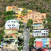 Homes built on a hillside, St Maarten.