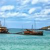 Sunken ship Margot Bay.
