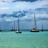Boats in Marigot Bay, St Maarten.