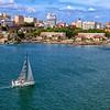 Sailboat in the harbor, San Juan.