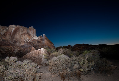 VENUS OVER PETROGLYPHS