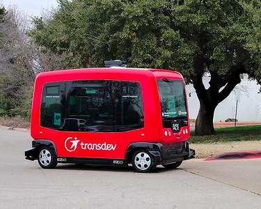 EasyMile EZ10 fully autonomous driverless shuttle.