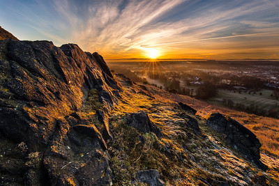 Sunrise Overlooking Edinburgh from Arthur's Seat