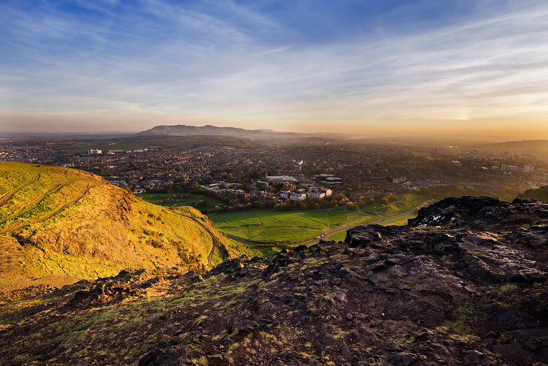 Sunset Overlooking the Pentland Hills from Arthur's Seat