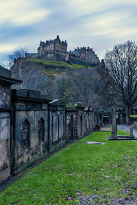 Edinburgh Castle Taken from St Cuthbert's Church Graveyard