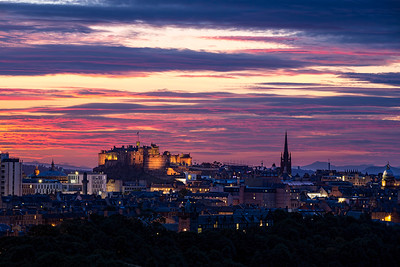 Sunset Overlooking Edinburgh Castle