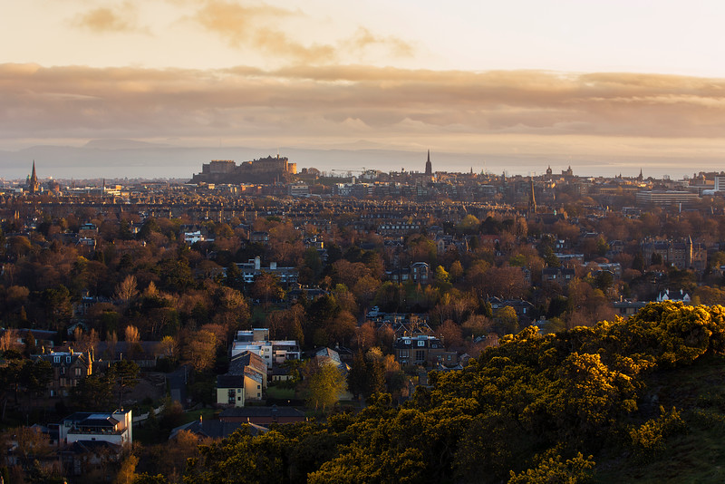 Edinburgh Skyline Taken From Blackford Hill