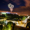 Edinburgh Fringe Fireworks Over Edinburgh Castle