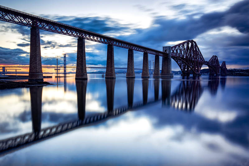 The Forth Rail Bridge During Twilight