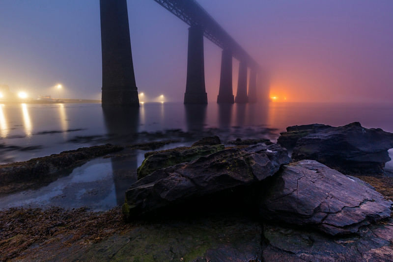 Forth Rail Bridge Surrounded by Fog