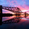 Forth Rail Bridge at Sunrise.