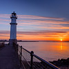 "Newhaven Harbour Lighthouse at Sunset.  Follow me on: <a href=""https://www.facebook.com/PhilipCormackPhotography"" rel=""nofollow"">Facebook</a> 