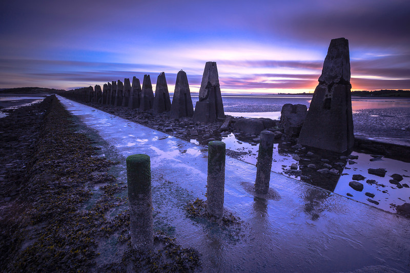 Cramond Island Causeway at Sunrise